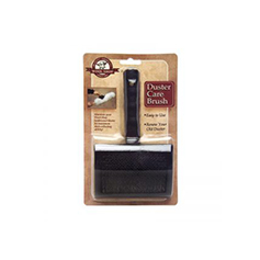 packaged black brush and handle for wool-duster care