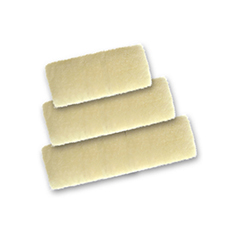 lambskin applicator pads for floor care shown in three different sizes