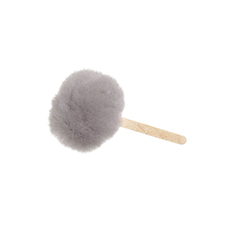 small 5 inch wool duster in gray for small tasks.